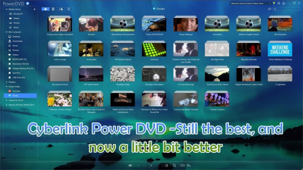 Cyberlink Power DVD concepts